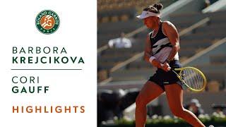 Barbora Krejcikova vs Cori Gauff - Quarterfinals Highlights I Roland-Garros 2021