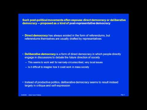 Post-Politics and Post-Representative Democracy