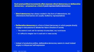 Post-Politics and Post-Representative Democracy