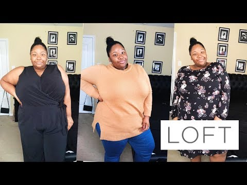 Plus Size Fashion Haul | Loft Fall Items