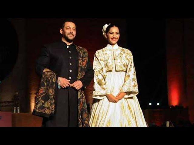 Salman Khan And Sonam Kapoor Rock The Ramp At Khadi Fashion Show