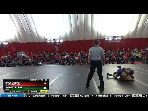 Schoolboy-girl 90 Jack Dubach Monroe Wrestling Vs Robert Flege LAW