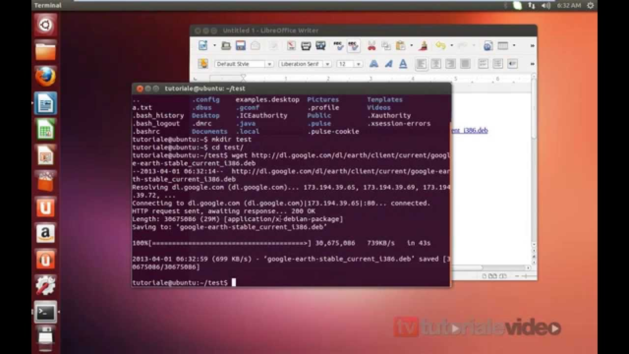 video youtube ubuntu 13.04