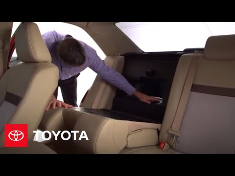 2012 Camry Hybrid How-To: Rear Seats | Toyota