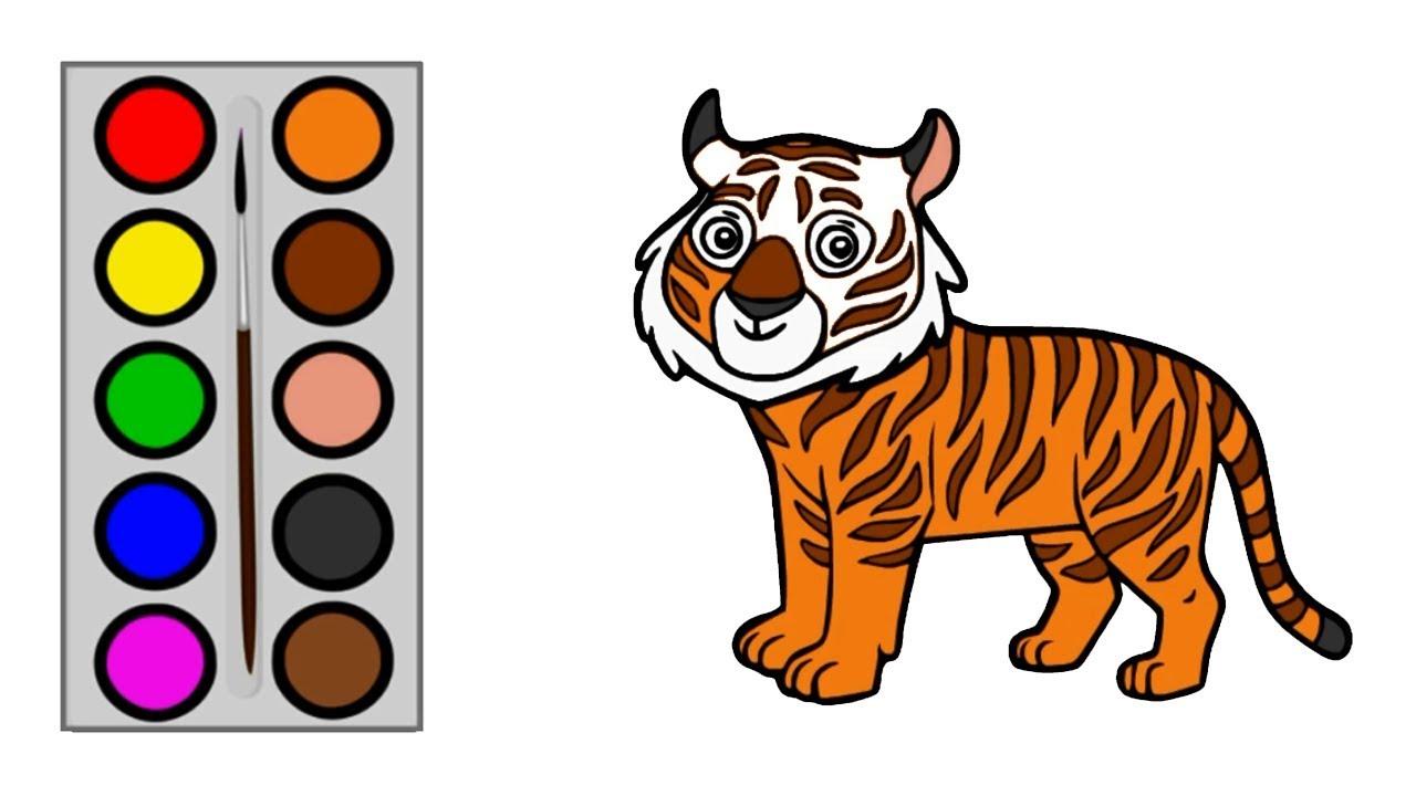 Cara Menggambar Harimau