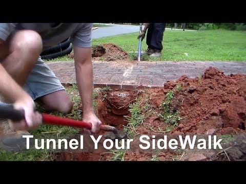 How To Tunnel Sidewalk in Under 10 Minutes