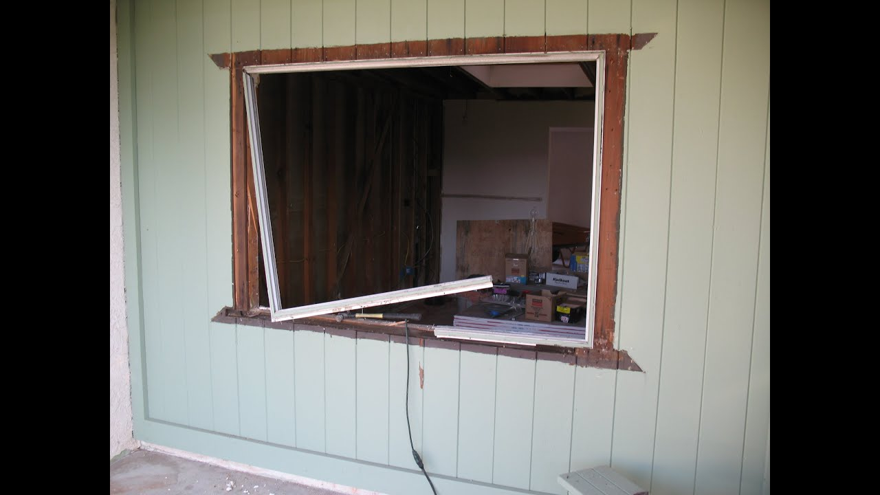 How To Frame Window Opening In Existing Windowless Wall