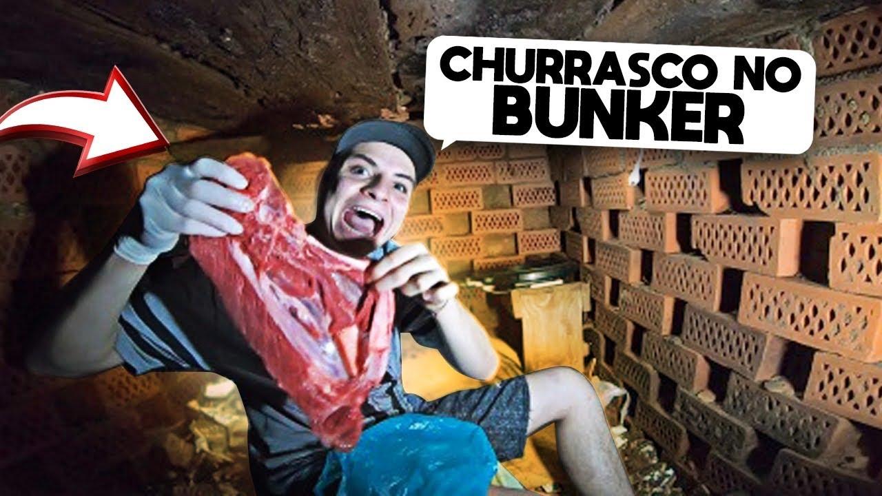 FIZ UM CHURRASCO NO BUNQUER SUBTERRANEO DA SEGUNDA GUERRA MUNDIAL!!!!(FICOU COM GOSTO DE FEZES!!)