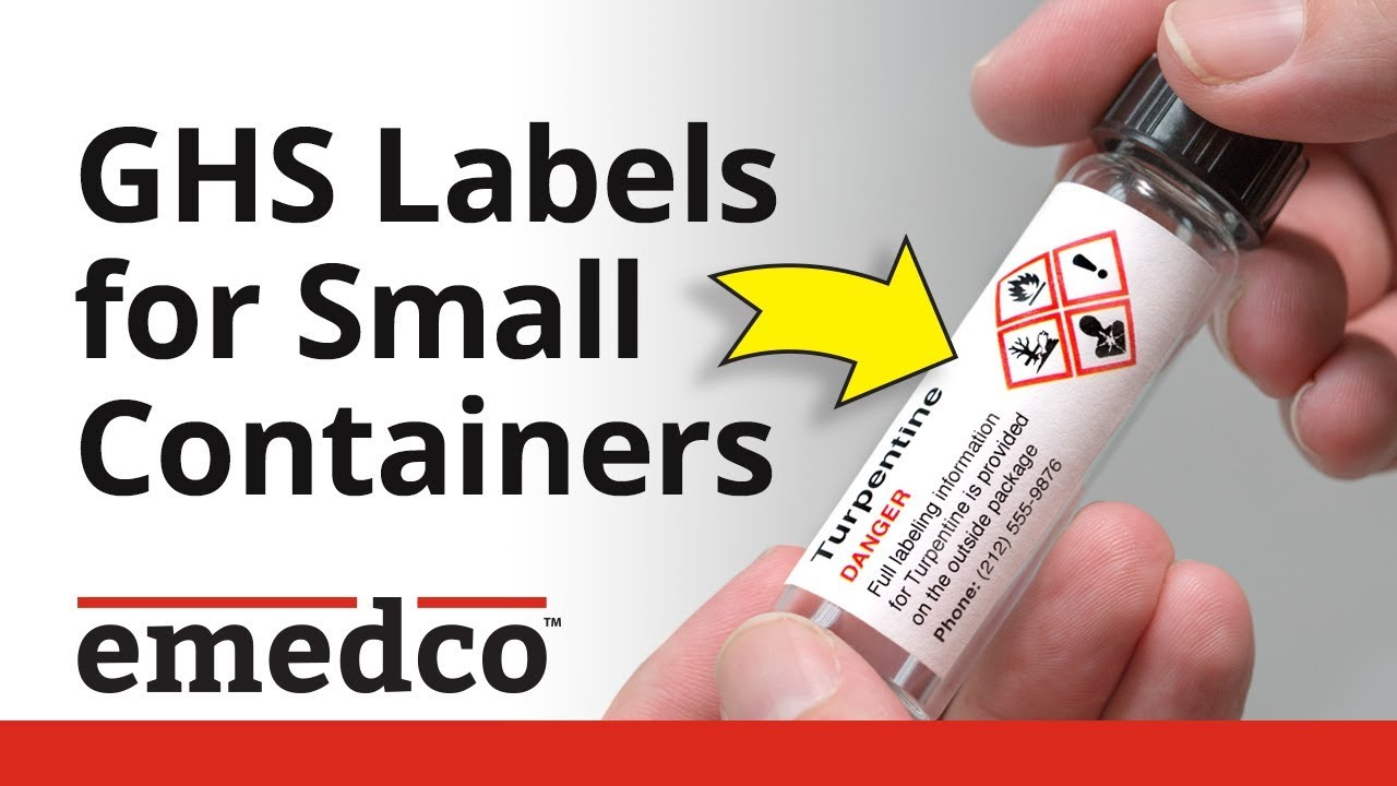 How to Fit All GHS Label Elements on Small Secondary Containers | Emedco  Video