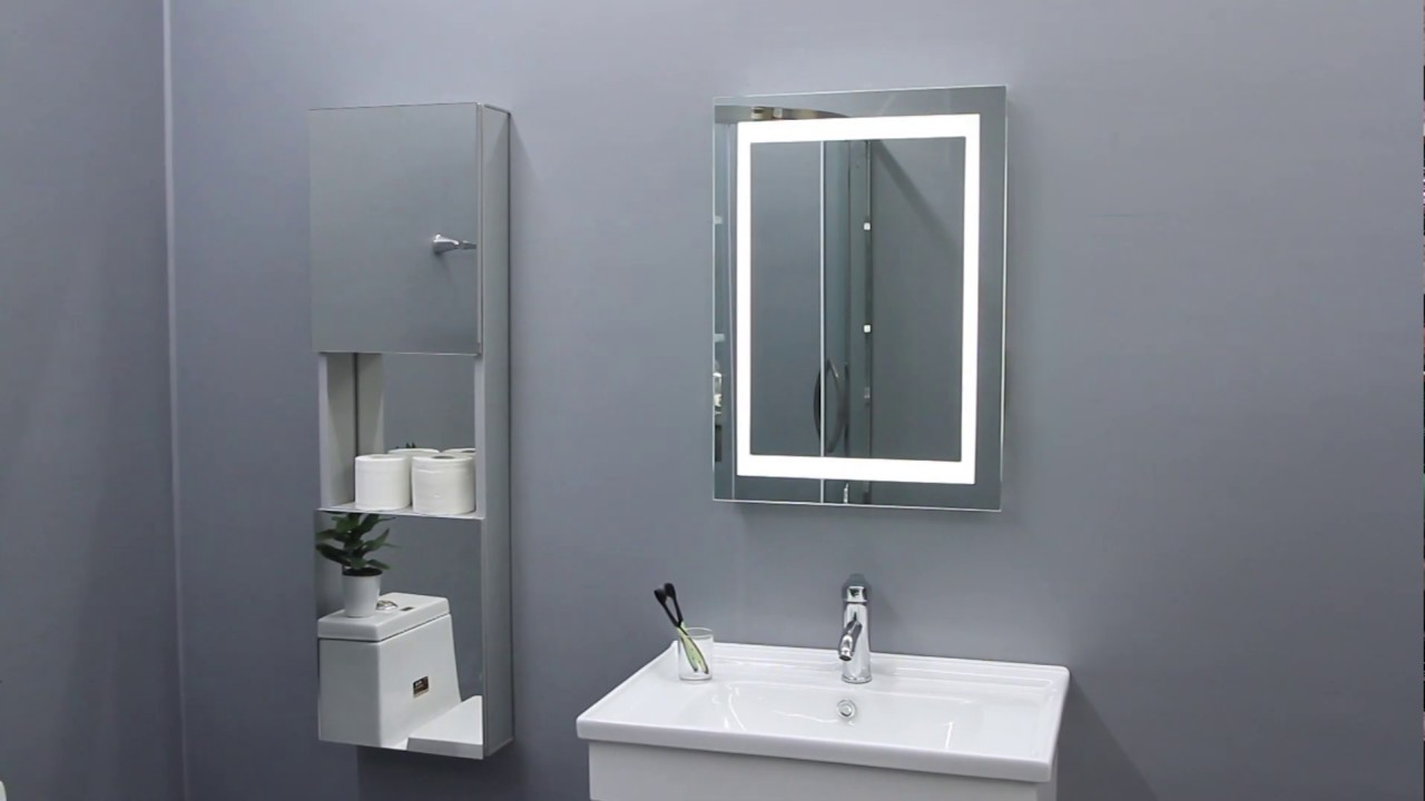 Quavikey Jm003 Led Illuminated Aluminum Bathroom Mirror Youtube