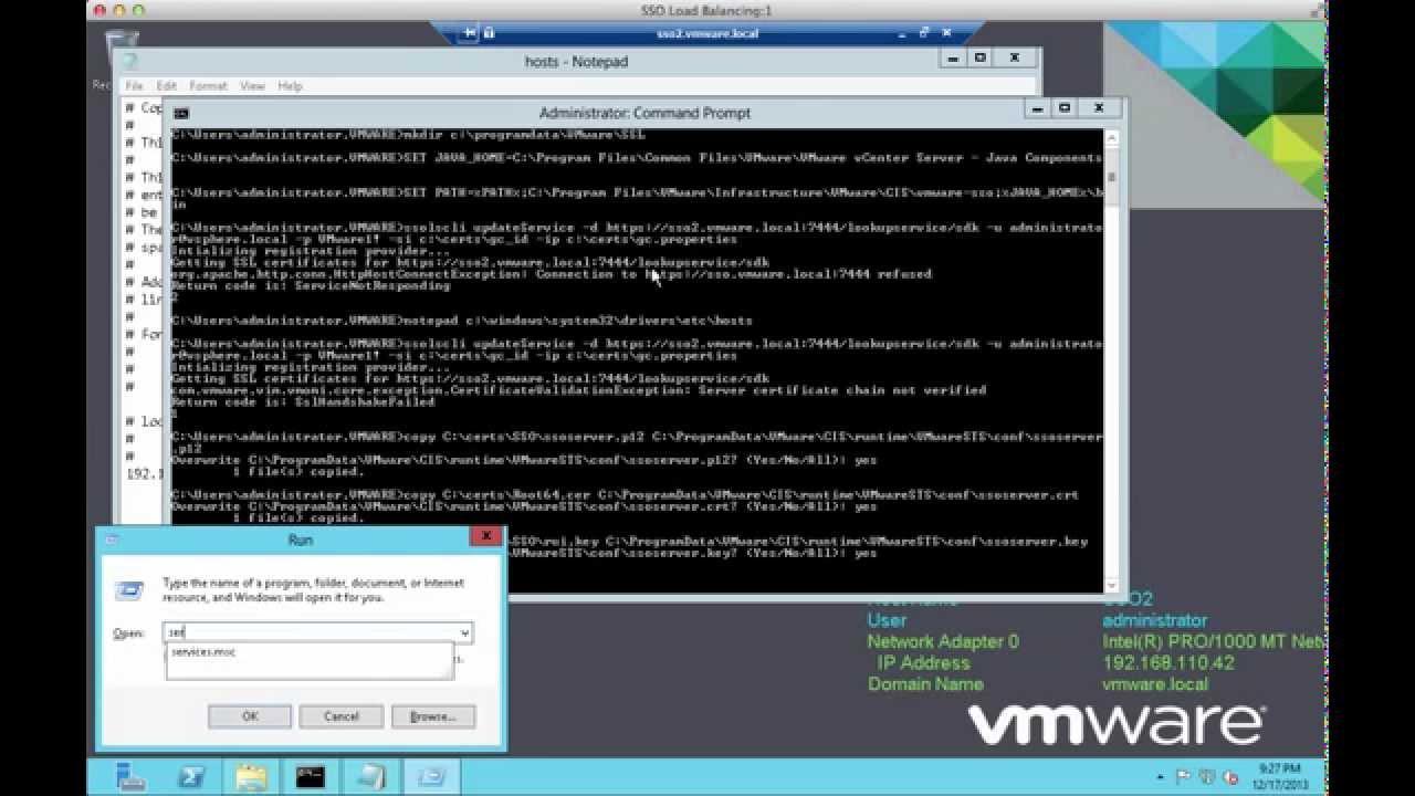 Updating the ssl certificates for vmware vcenter youtube updating the ssl certificates for vmware vcenter xflitez Images