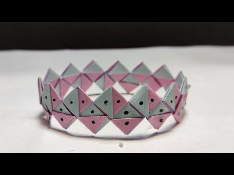 How to make a amazing paper bracelet   Creator Boy