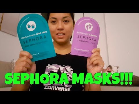 SEPHORA MASKS! I TRY A HAND AND FOOT MASK
