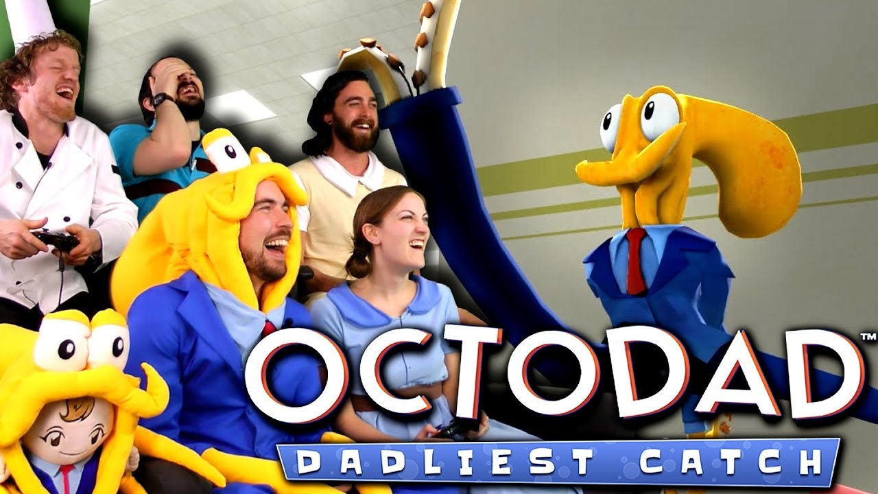 Octodad Dadliest Catch Is Awesome 4 Player Co Op Youtube