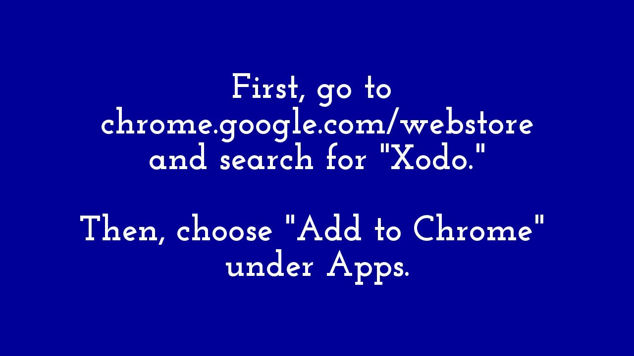 Editing PDF's on Chromebooks with Xodo