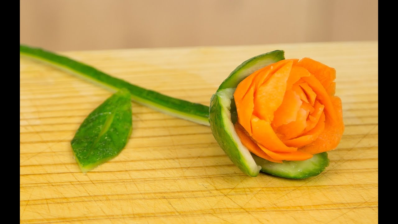 How To Make A Carrot Rose Garnish