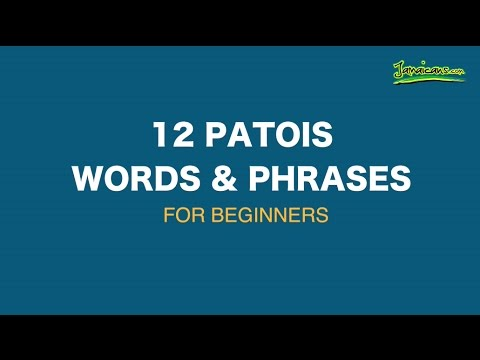 12 patois words phrases for beginners youtube 12 patois words phrases for beginners jamaica m4hsunfo