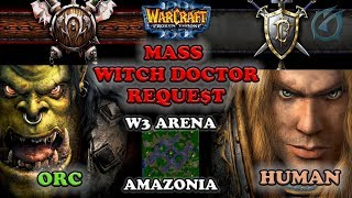 Grubby | Warcraft 3 The Frozen Throne | Orc v HU - Mass Witch Doctor Reque$t - Amazonia