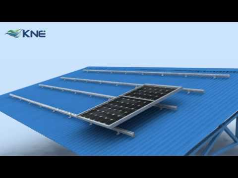 KNE Metal Roof Mounting System KM-B Series for Solar Panels