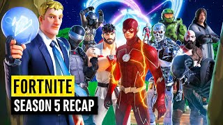 Fortnite Season 5 Ultimate Recap (Watch before playing THE ZERO CRISIS FINALE)
