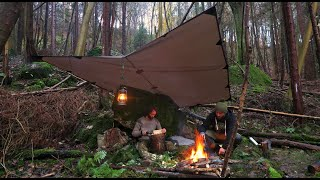 Two Nights Bushcraft Wild Camping in a Rain Storm | Campfire Cooking