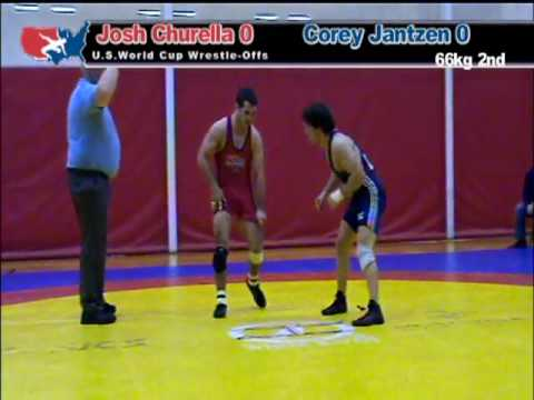World Cup Wrestle Off: 66kg: Josh Churella vs. Corey Jantzen