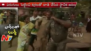 Bhubaneswar Slum dwellers Fight with Odisha Police