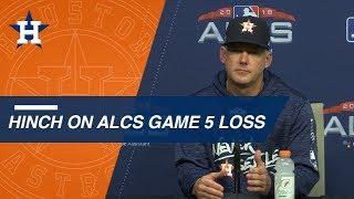 alcs gm5 aj hinch on season ending loss in game 5