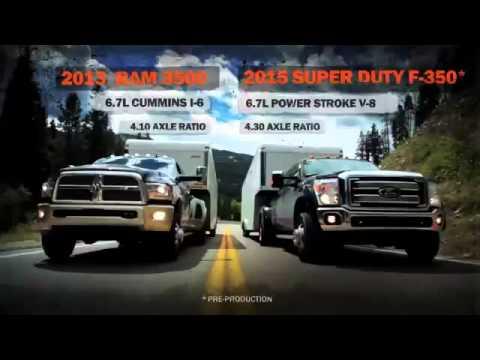 Ford F350 Super Duty vs Dodge Ram 3500 and Chevrolet Silverado