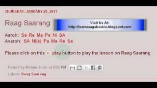 Raag Saarang Swaramalika Lesson