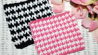 "HOW TO: Crochet ""The HOUNDSTOOTH Stitch"""