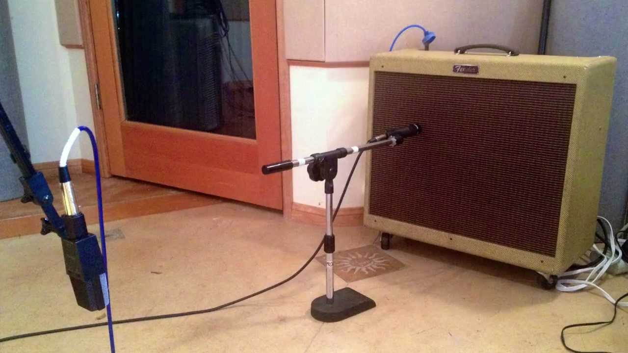 how to record guitar amp with a close and far microphone using logic pro youtube. Black Bedroom Furniture Sets. Home Design Ideas