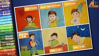 """Video topic: how to draw good habits 