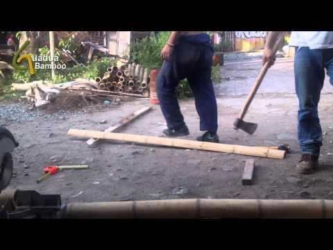 Splitting Bamboo Poles