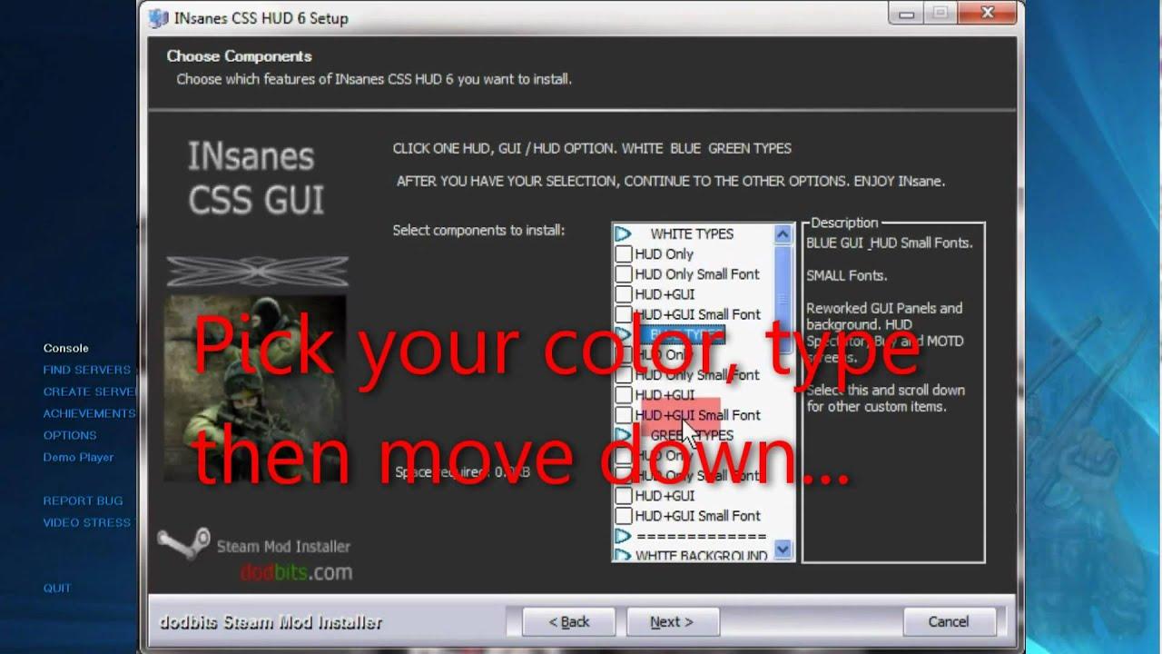 Adjusting INsanes CSS GUI+HUD V7