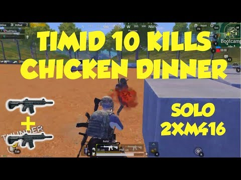 PUBG Mobile Timid Guy With 10 Kills Chicken Dinner - Thunder Gaming PUBG Mobile Awesome Moments Ep 2