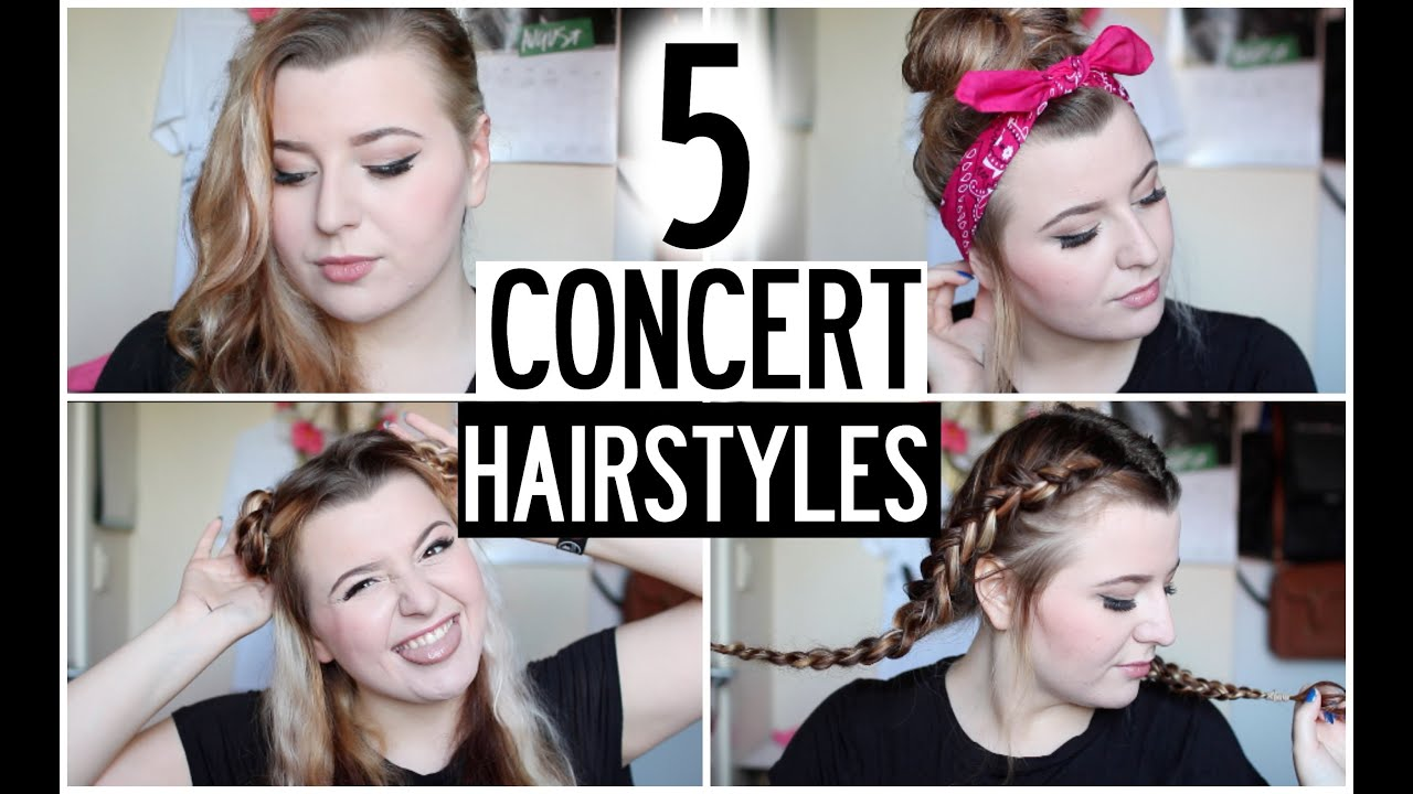 5 Hairstyles: 5 CONCERT HAIRSTYLES