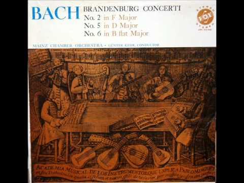 Bach / Günter Kehr, 1964: Brandenburg Concerto No. 2, Movement 3 - Mainz Chamber Orchestra