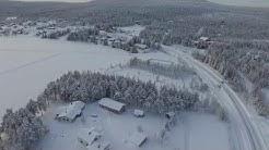 Äkäslompolo from the air (lapland winter 2016)