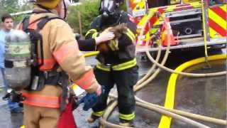 Firefighter Geno Saves Emi Loo Kitty From Fire!