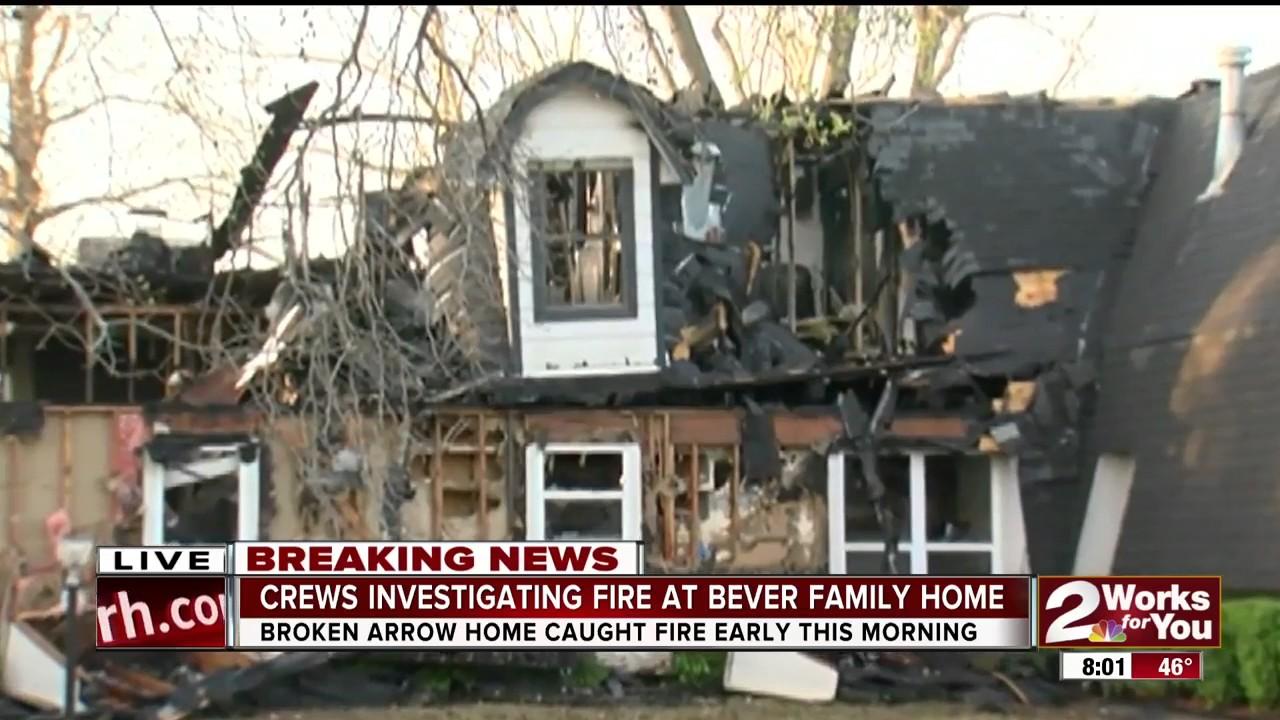 Bever Home Destroyed after Fire in Broken Arrow