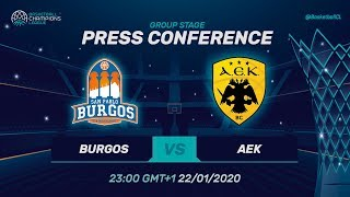 San Pablo Burgos v AEK - Press Conference - Basketball Champions League 2019-20