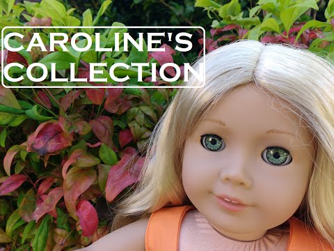 American Girl - Caroline's Parlor And Inkpot The Cat- Retired