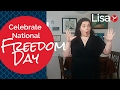 Celebrate #NationalFreedomDay and share your vision (S3E1 Creative Freedom)