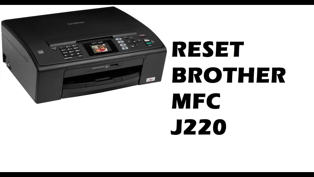 Reset Brother MFC J220 (Redefinir Purge) - YouTube