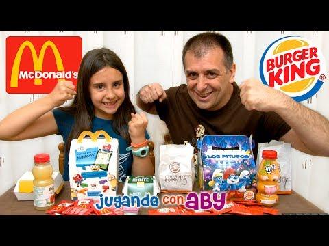 MCDONALDS vs BURGER KING. Happy Meal vs Diver King. Minions vs Pitufos