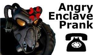 Angry Enclave Soldier Calls Businesses - Fallout 2 Prank Call