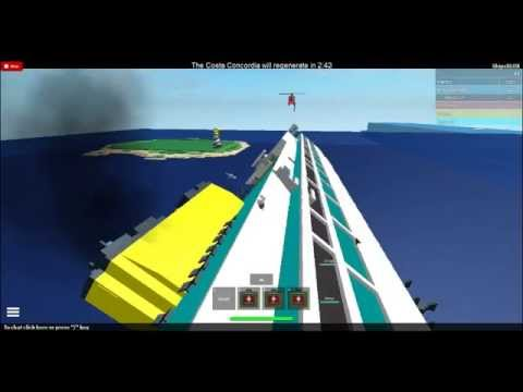 Roblox Costa Concordia Sinking