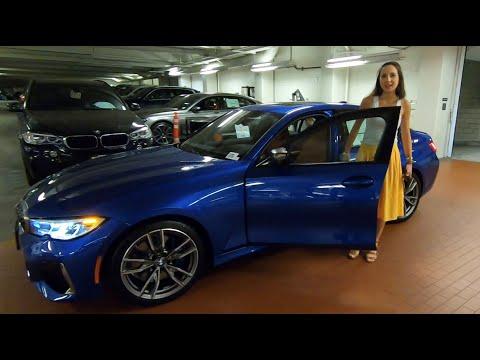 2020 BMW M340i Portimao Blue Metallic with Lauren