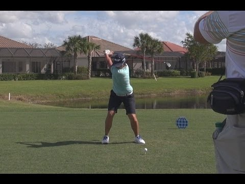 GOLF SWING 2012 - YANI TSENG DRIVER - FACE ON REGULAR SPEED & SLOW MOTION - HQ 1080p HD
